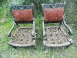 Два фотеля/м'які крісла 19ст. різьба, фото №3
