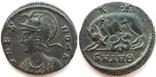 Коммеморативная бронза Константин I мон двор Antioch 330-333 гг н.э. (83_6)