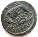 Коммеморативная бронза Константин I мон двор Antioch 330-333 гг н.э. (83_6) фото 5