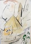 """Одесса,В.Сиренко """"Путешествие в Египет"""", бумага, тушь, акварель,30*20 см, фото №2"""