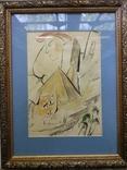 """Одесса,В.Сиренко """"Путешествие в Египет"""", бумага, тушь, акварель,30*20 см, фото №5"""