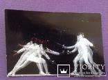Юбилейная открытка к 100 летию Международной федерации фехтования, спорт, фото №2