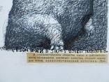 Одесса, В.Павлов''Соблазнение Евой Змея в Раю'',тушь,перо,36,5*40см, фото №3