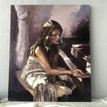 Меланхолия, 50*60 См (девушка у фортепиано), фото №5
