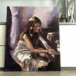 Меланхолия, 50*60 См (девушка у фортепиано), фото №6