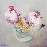 Ежевичное мороженое, 35*35 см, серия Десерты