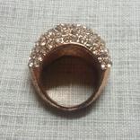 Кольцо с блестящими камешками, фото №2