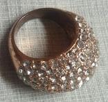 Кольцо с блестящими камешками, фото №4