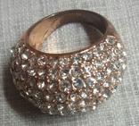 Кольцо с блестящими камешками, фото №5