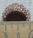 Кольцо с блестящими камешками, фото №6