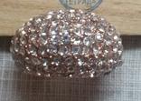 Кольцо с блестящими камешками, фото №7