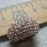 Кольцо с блестящими камешками, фото №8