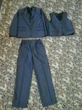 Школьный костюм 3-йка на мальчика рост 116-122см