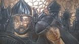 Чеканка Богатырь с возлюбленной 62.5*33.5 см., фото №5