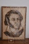 Портрет Пушкина Выжженный запечатанный в слюде, фото №3