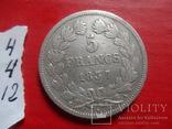 5 франков 1837 Франция. Серебро (4.4.12)~, фото №7