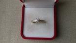 Кольцо золото 585, вставки кристаллы Swarovski. photo 1