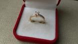 Кольцо золото 585, вставки кристаллы Swarovski. photo 2