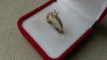 Кольцо золото 585, вставки кристаллы Swarovski. photo 3