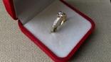 Кольцо золото 585, вставки кристаллы Swarovski. photo 4