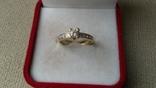 Кольцо золото 585, вставки кристаллы Swarovski. photo 5