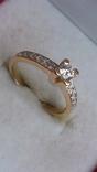 Кольцо золото 585, вставки кристаллы Swarovski. photo 7