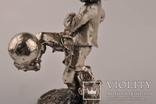 Статуэтка футболиста Италия 1982 года из  ламинированного серебра 925 пробы., фото №5