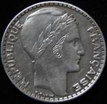 20 франків 1933 року, ІІІ Французька республіка, «Маріанна», срібло photo 1