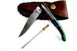 Cкладной нож. Дамаск. 22 см