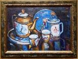 """Троян Г. """"Натюрморт с китайским фарфором"""", 1986р., 34х49 см, фото №2"""