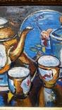 """Троян Г. """"Натюрморт с китайским фарфором"""", 1986р., 34х49 см, фото №5"""