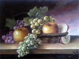 """Картина """"натюрморт с виноградом"""" 30х40 см. с подписью автора"""