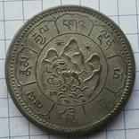 Тибет, 10 сранг 1948 года, серебро 16,37 грамма photo 1