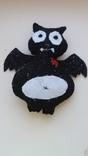 Вампир летучая мышь мягкая игрушка из фетра, фото №2