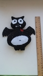 Вампир летучая мышь мягкая игрушка из фетра, фото №4