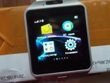 Смарт часы, телефон /Smart Watch DZ09 белые.