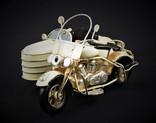 Модель мотоцикл с коляской металл