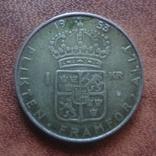 1 крона 1953  Швеция серебро   (М.7.9)~, фото №2
