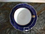 Чайное антикварное трио чашка блюдце тарелка клеймо Von Schierholz Германия photo 5