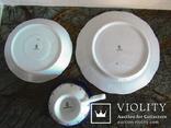 Чайное антикварное трио чашка блюдце тарелка клеймо Von Schierholz Германия photo 7