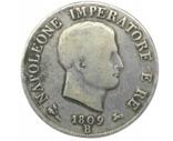5 лир 1809 Болонья . Наполеон Бонапарт