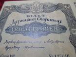 Кредитный билет Державной Скарбници на 200 гривень 1918 года. photo 5