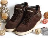 Кроссовки Jordan, цвет Коричневый, Натуральная замша 41 размер 27 см стелька