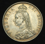 Великобритания флорин 1887 Unc серебро