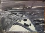 """Одесса, Е.Рахманин """"Абстрактный пейзаж"""", бумага, акрил, 62*82см в раме под пластиком, фото №2"""
