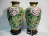 Пара ваз Клуазоне, фото №2