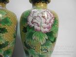 Пара ваз Клуазоне, фото №4