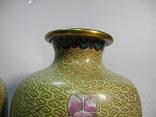 Пара ваз Клуазоне, фото №11