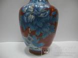 Большая Ваза Клуазоне ( Старый Китай ) 30 см., фото №4