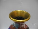 Большая Ваза Клуазоне ( Старый Китай ) 30 см., фото №5